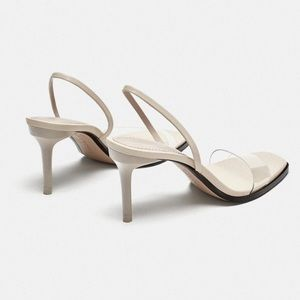 Zara Vinyl Sandal. Worn once!